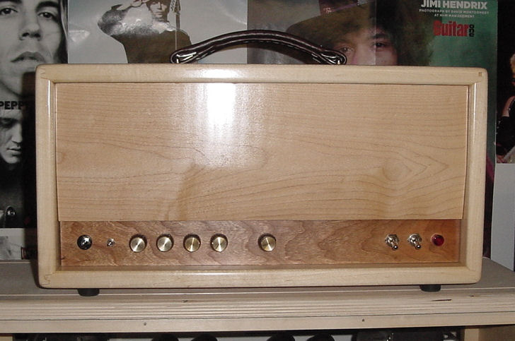 Maple Express Cabinet with Custom Cherry Front Panel